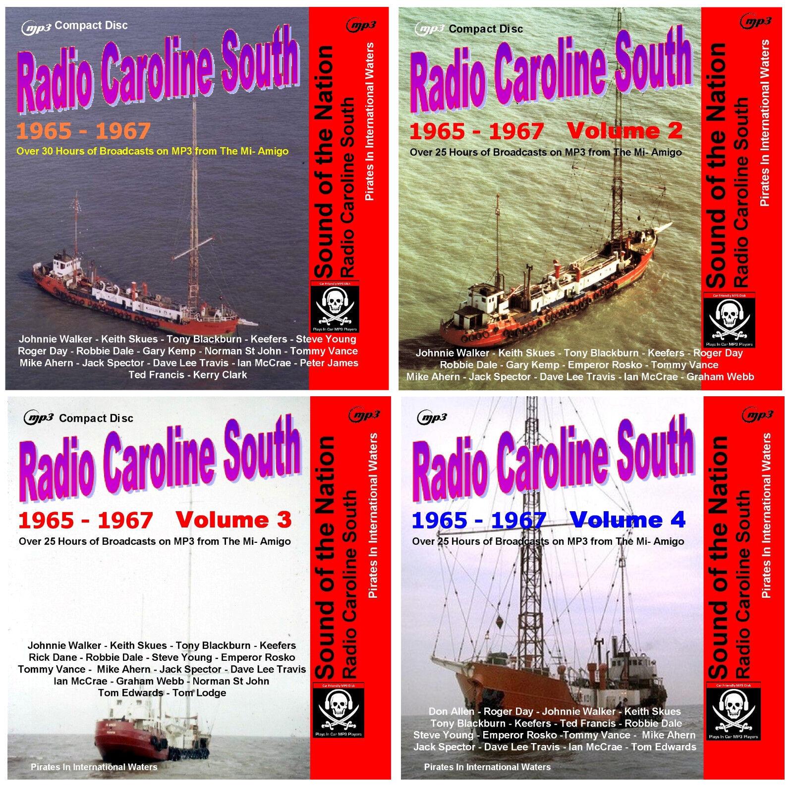 Pirate Radio Caroline South Volumes 1,2,3 /& 4 Listen In Your Car