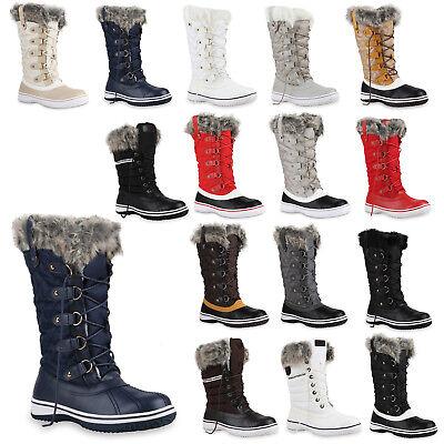892966 Warm Gefütterte Damen Stiefel Winterstiefel Snow Boots Schuhe Mode | eBay