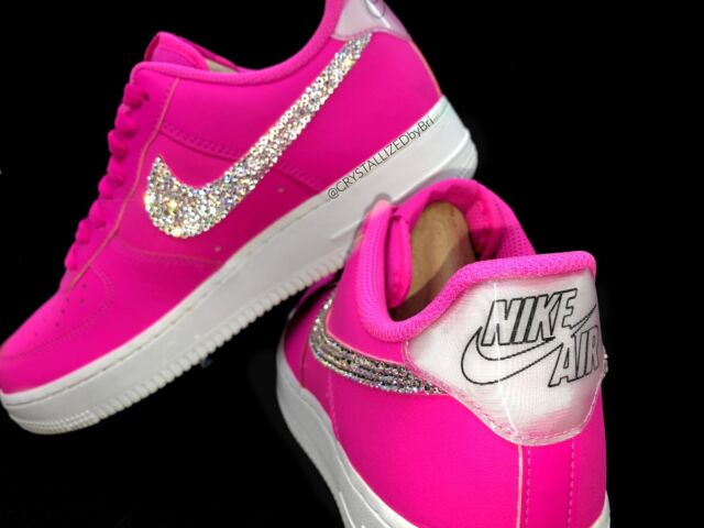 c89696d7bba89 Any Color CRYSTALLIZED Nike Air Force 1 Sneakers w/Swarovski Crystals White  Pink