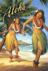 Aloha-Hawaii-amp-South-Sea-Isles-travel-fine-art-prints-set-of-2-Kerne-Erickson
