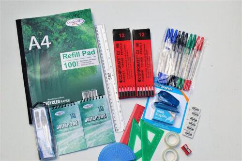 54 Pcs Secondary School Stationery//Pen//Pencil Set Back To School