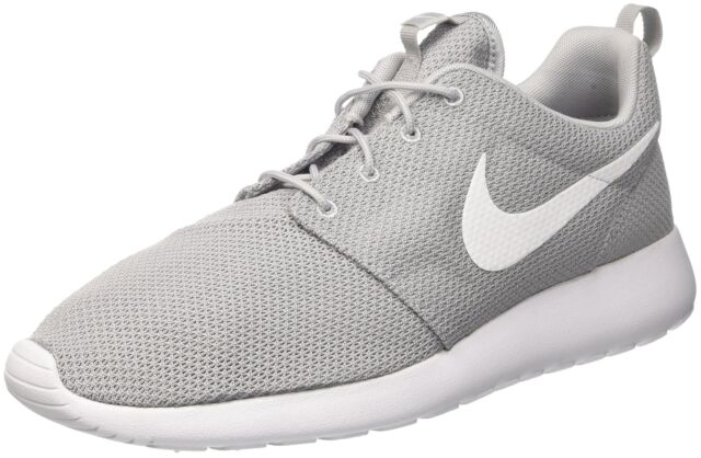 9b86e6980fea Nike Rosherun Roshe One Run Grey White Mens Running Shoes SNEAKERS ...
