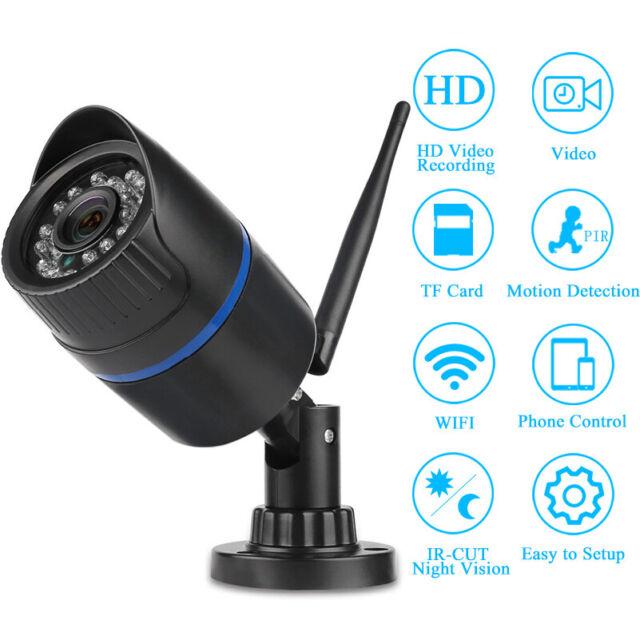 720P HD IP Camera Outdoor Security Camera IR-Cut Night Vision Wireless Wifi Cam