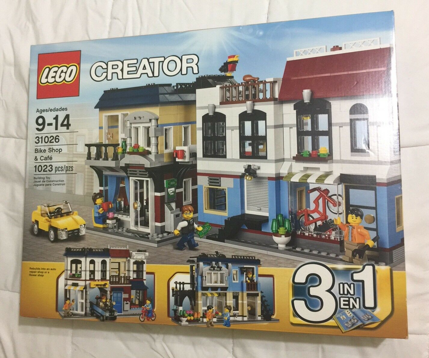 Nuovo in Unopened Factory Sealed Box - LEGO Creator Bike Shop & Café  31026