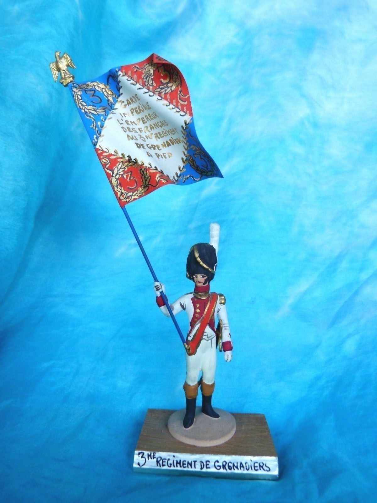 Porte drapeau 1er empire Guy Renaud - 3eme régiment de grenadiers - Flag bearer
