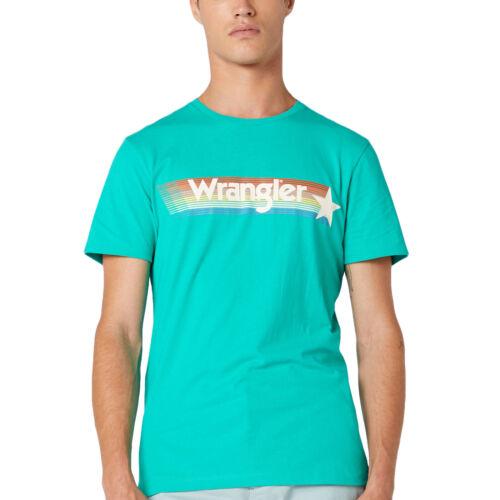 WRANGLER Homme Arc En Ciel Décontractées à encolure ras-du-cou coupe standard à manches courtes T-Shirt Top Tee