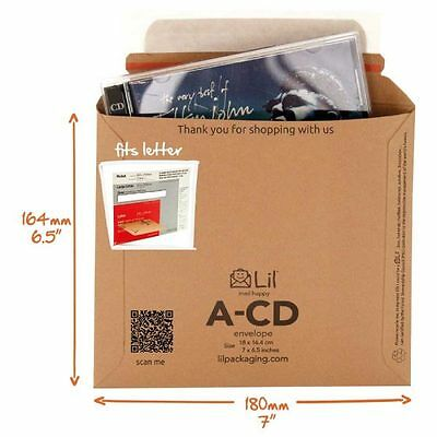 """50 x ECO FRIENDLY """"PIP""""  SIZE CD CARD MAILERS 180x165"""