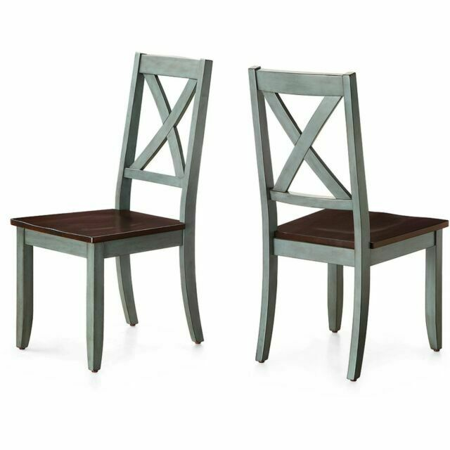 Better Homes And Gardens Maddox Dining Chair Set Of 2 Blue For Sale Online Ebay