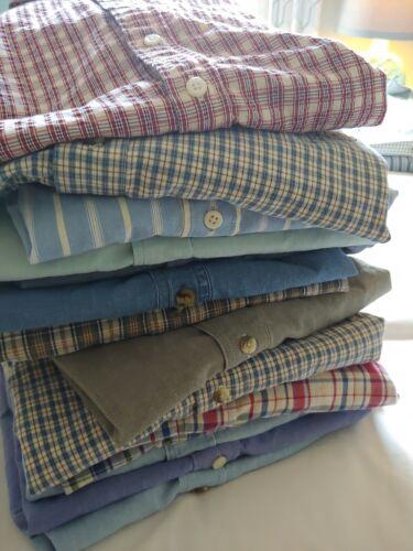 LL Bean Mens 14 Short Sleeve Shirt Lot Xl