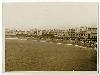 Nice Casino Palais de la Jetée plage an Tirage Repro photo ancienne 1930