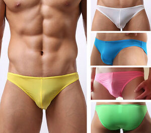 Men-039-s-Sexy-Smooth-Cozy-Bikini-Briefs-Summer-Low-Rise-Pouch-Underwear-Lingerie