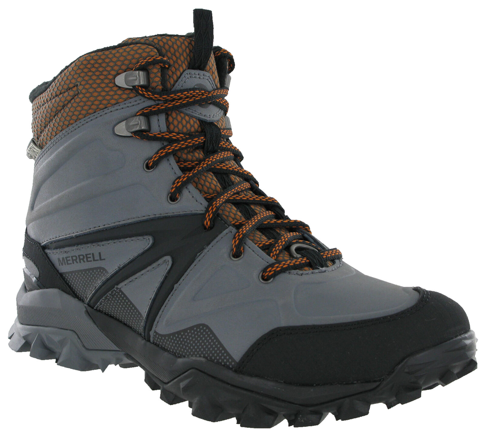 Merrell Capra Glacial Boots Mens Mid Ice+ Grip Waterproof Hiking Walking shoes