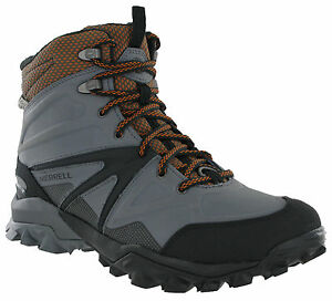 99d13fefc65 Details about Merrell Capra Glacial Boots Mens Mid Ice+ Grip Waterproof  Hiking Walking Shoes
