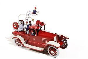 Blechspielzeug-FEUERWEHRAUTO-Feuerwehr-Tin-Toy-Jouet-en-Tole