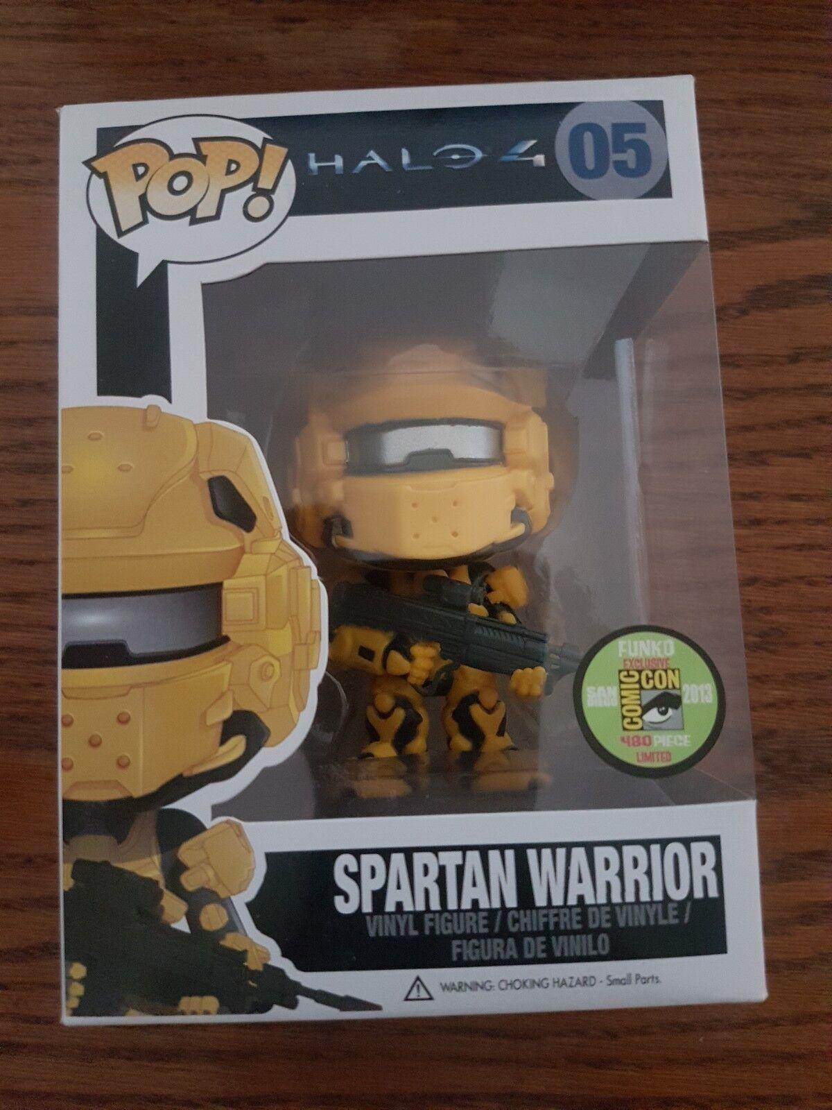 Halo 4 Funko POP 2013 SDCC Exclusive Spartan Warrior Yellow