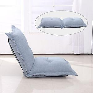 Homcom Sofa Chair Folding Cushion Bed Pillow Lounger Linen