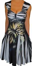 JJ3 Funfash Plus Size Dress Black White Empire Waist Cocktail Dress 2X 22 24