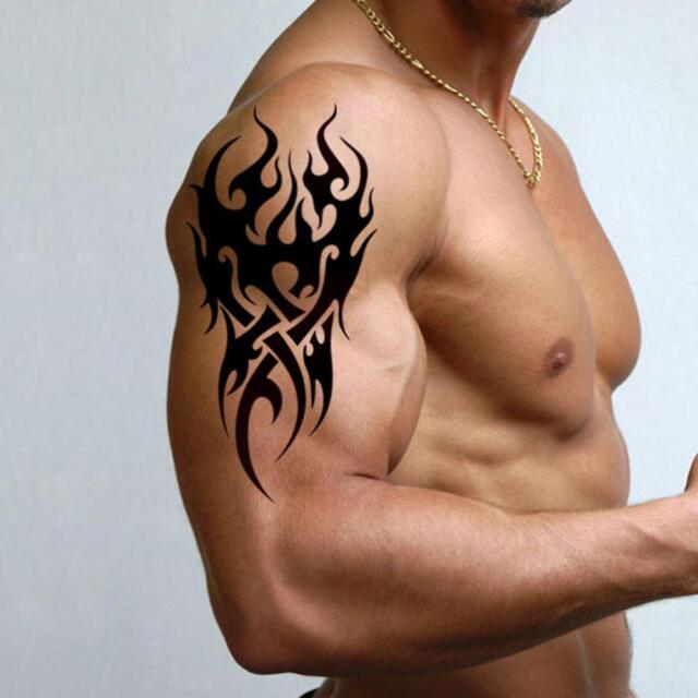 High Men's Temporary Tattoo Waterproof Totem Body Arm Leg Sticker Removable Nett