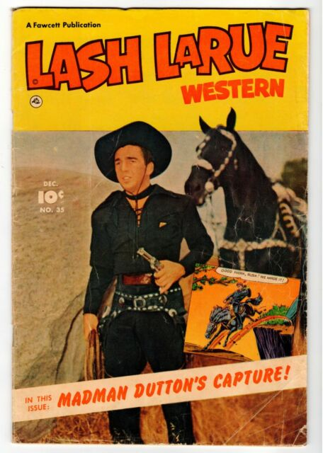 Lash Larue Western 35 Fawcett 1952 G Vintage Comic Ebay