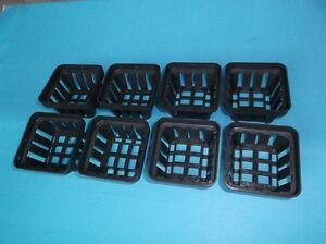 Square Plastic Pot 7cmx7cm 8pcs Rhynchostylis Aeridas
