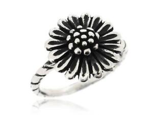 Nice And Lovely Sunflower Ring 925 Sterling Silver Rings