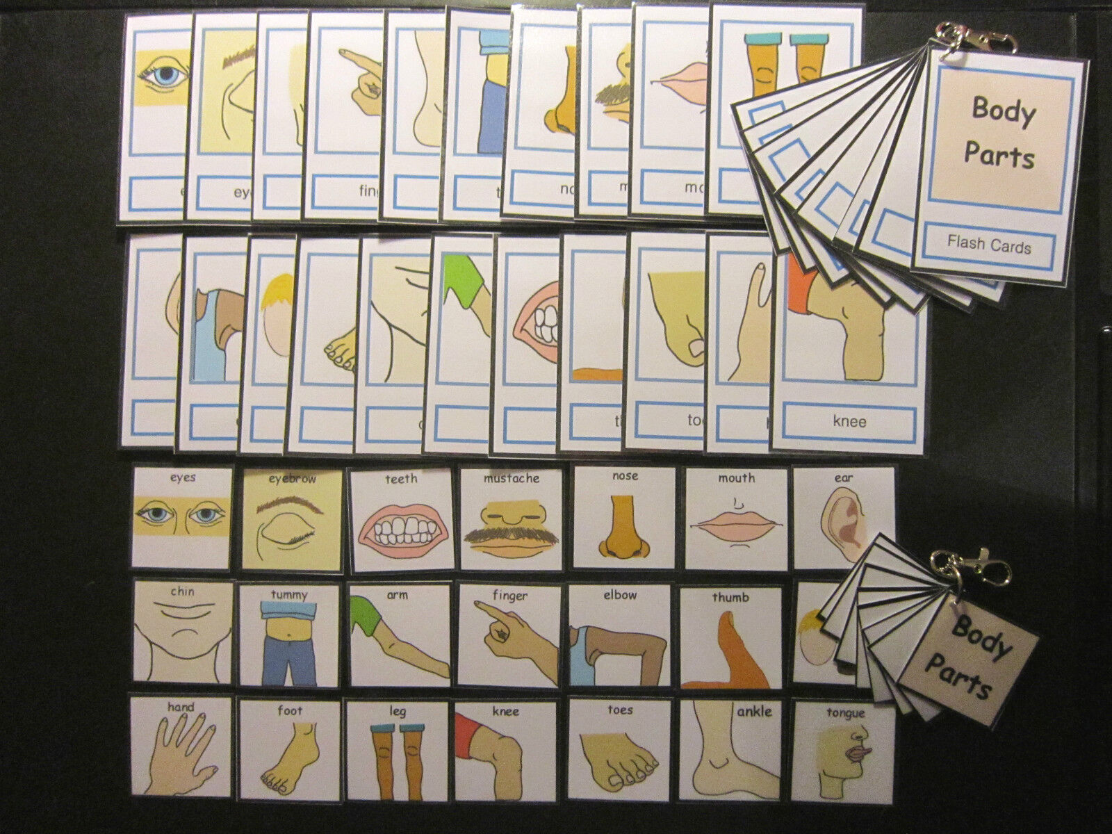 Body Parts Picture Cards -  Autism PECS Non verbal Early Yrs Visual Aid Dementia