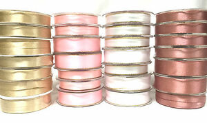 Craft-Gold-Silver-Pink-White-Sparkly-Satin-Wedding-Ribbon-Gift-Wrapping