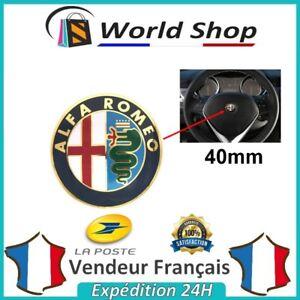 Logo-ALFA-ROMEO-40mm-volant-sigle-badge-embleme-40-mm-emblem-147-mito-brera-OR