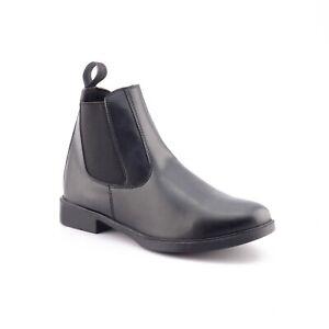 3 Size Jodhpur Leather English Horse Riding Ankle Boots Kids Paddock Black
