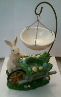 Yankee Candle Easter Bunny Rabbit Wheelbarrow Hanging Tart Warmer Burner Eggs