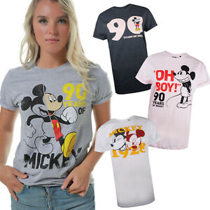 Image Is Loading Disney Mickey Mouse 90th Birthday Ladies Womens T