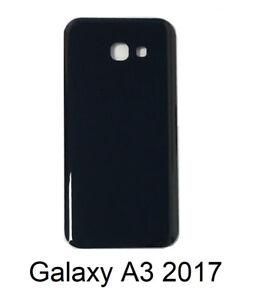 Samsung-Galaxy-A3-2017-Cover-Retro-Batteria-Copertura-Posteriore-Vetro-Nero