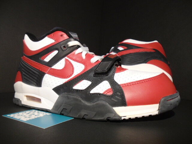 2004 NIKE AIR TRAINER III 3 VARSITY RED BLACK WHITE MAX 1 679066-601 NEW 11.5