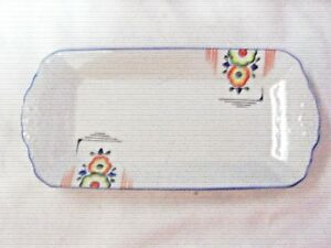A-Vintage-Art-Deco-20-30-039-s-Japanese-Hand-painted-Floral-Sandwich-Tray
