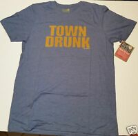 town Drunk Classic Tshirt By David & Goliath, W/ Tags, Blue T-shirt,