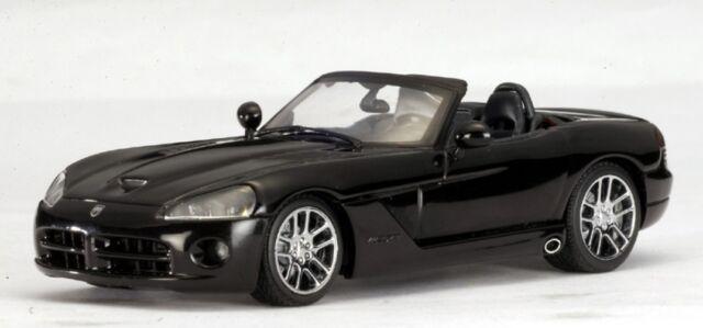 DODGE VIPER SRT-10 2003 BLACK ROADSTER AUTOART # 51702 1/43 NEW USA CAR NOIR
