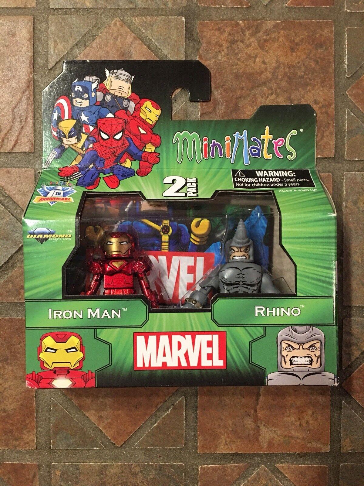 Marvel Minimates RHINO & IRON uomo TRU Wave 14  Avengers X-Men estrellak Spider-uomo  scelta migliore