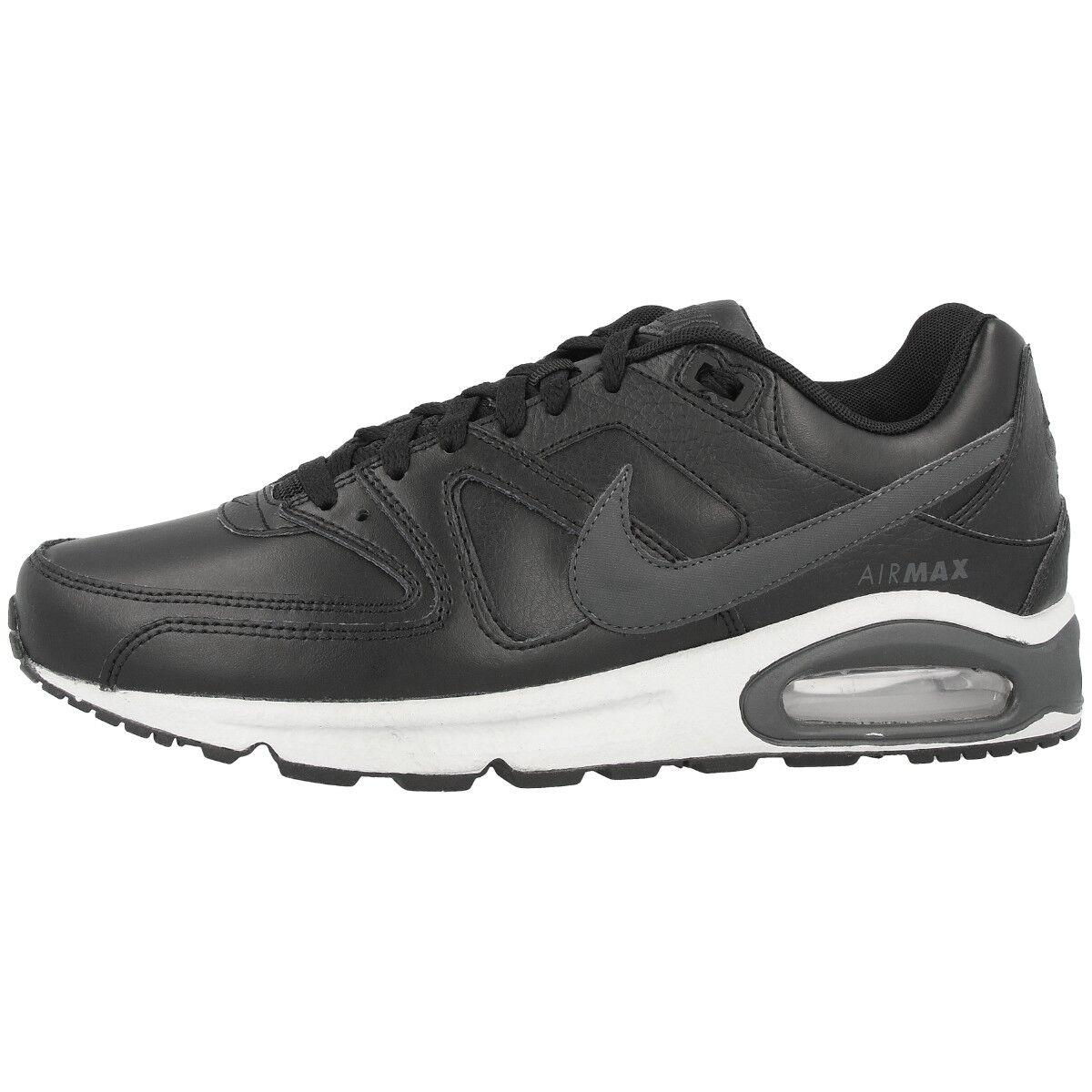 Nike Air Max Command Leather Schuhe Freizeit Turnschuhe schwarz anthracite 749760-001