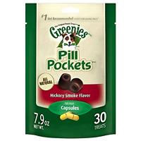 Greenies Pill Pockets Soft Dog Treats, Hickory Smoke, Capsule, 7.9 Oz.