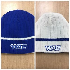 1ae806c12c Details about WAC COLLEGE SPORTS BLUE REVERSIBLE Beanie Hat Knit Stocking  Cap FREE SHIPPING