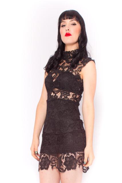 Penny Lane Dress in Black Wedding Birthday Formal Vintage Inspired 6 8 10 12