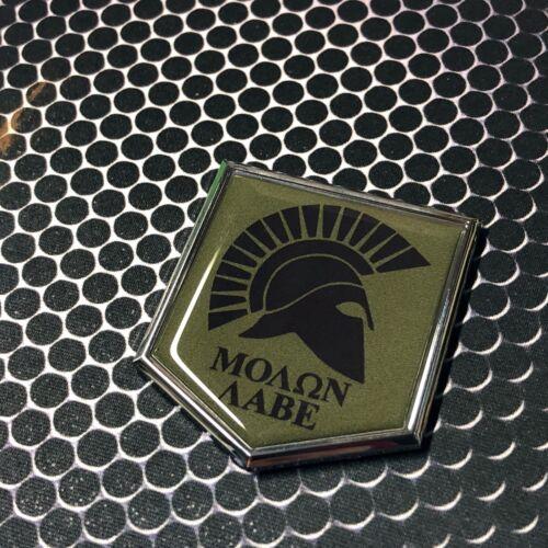 "Molon Labe Spartan Domed CHROME Emblem 3D Sticker 2/""x 2.25/"" Come And Take It 2"