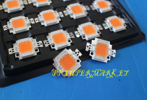 10pcs 10W 10 watt full spectrum led chip 380nm~840nm Plant grow lights