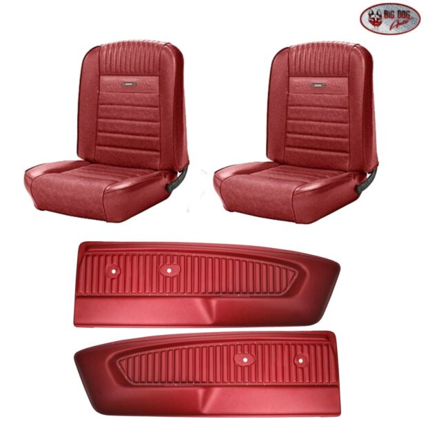1966 66 Mustang Coupe Front Rear Seat Covers Dark Red Tmi In Stock For Sale Online Ebay