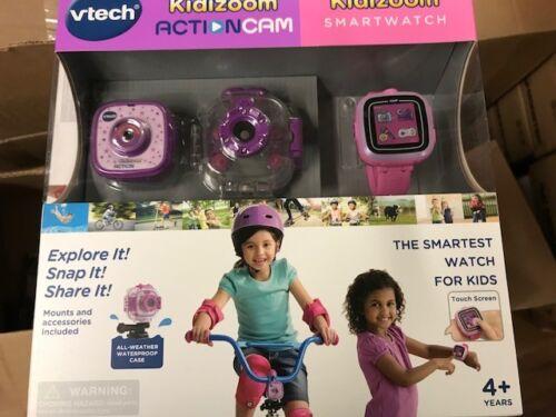 Vtech Kidizoom Action Cam plus Smartwatch Bundle for Girls