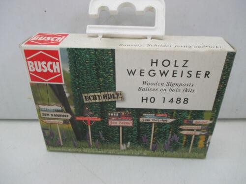 Busch H0 1488 Bausatz Holzwegweiser  WT4783