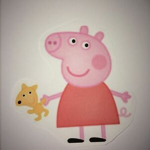 1 Set Peppa Pig helle dunkle Stoffe Transferfolie Applikation Puppenkleidung