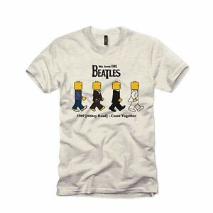 9505765691d Details about BN BEATLES LEGO CHARACTER Design T-shirt Short Sleeve Unique  Style Neck Double