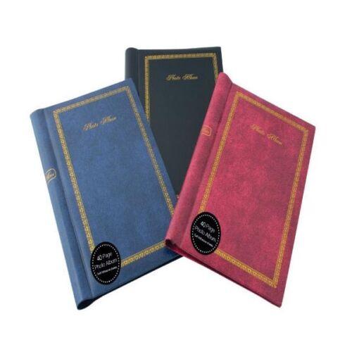 16 Pockets Holds 6x4 Photo Plain Wedding Album Assorted Colours No Fixing Pictur