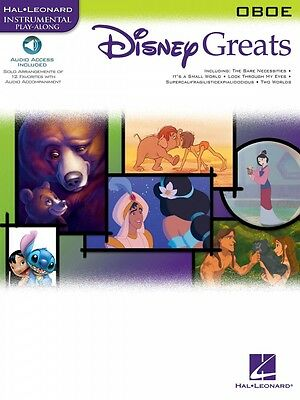 Instruction Books, Cds & Video Disney Greats For Oboe Instrumental Play-along Pack Instrumental Folio 000842078 To Invigorate Health Effectively Musical Instruments & Gear
